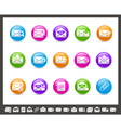 E mail icons rainbow series vector