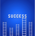Ladder to success - concept business competition vector