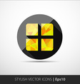 Geometrical present box icon vector