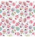 Seamless easter pattern made eggs vector