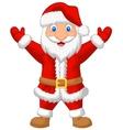 Santa cartoon waving vector