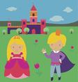 Princess with prince vector