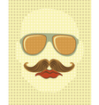 Male face with mustache and glasses vector