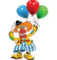 Clown and balloon vector