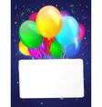 White background with multicolored balloons vector