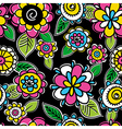 Pattern of hand draw flowers vector