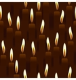 Seamless burning candle church background vector