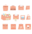 Bags icons vector