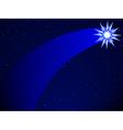 Comet on starry sky vector