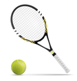 Tennis racket and ball vector