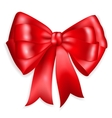 Big bow made of red ribbon vector