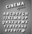 Cinema style characters set vector