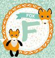 Abc animals f is fox childrens english alphabet vector