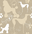 Seamless light background with dogs vector