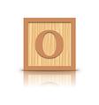 Letter o wooden alphabet block vector