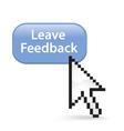 Leave feedback button click vector