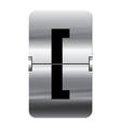 Alphabet silver flipboard letters square brackets vector