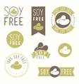 Soy free hand drawn labels vector