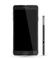 Smartphone realistic mockup with digital pen vector