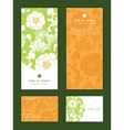 Green and golden garden silhouettes vector