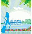 Tourism on a tropical vacation vector