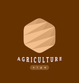 Agriculture sign abstract template vector