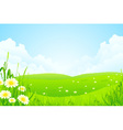 Green nature landscape vector