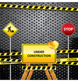 Warning signs grunge background vector