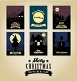 Christmas greetings card collection vector