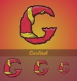 Halloween decorative alphabet - g letter vector