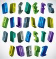 3d colorful letters alphabet vector