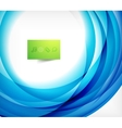 Blue swirl wave abstract design template vector