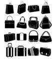 Bag icons set vector