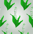 Seamless texture lily of the valley spring flower vector