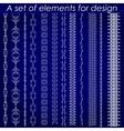 Calligraphic design elements 1 - set vector