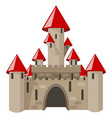 Cartoon castle isolated on white vector