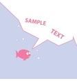 Pink cartoon fish vector