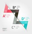 Modern arrow origami style vector