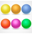 A collection of balls of different colors and vector
