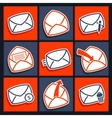 Set of icons for app envelopes and message vector