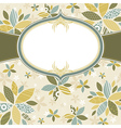 Floral background with white label vector