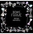 Ornate bows frame vector