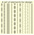 Calligraphic design elements 2 - set vector