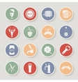 Round beer icons set vector