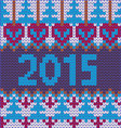 2015-background of new year with knitted vector