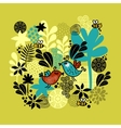 Pattern with birds in love vector