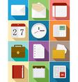 Business flat icons set design vector