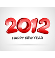 Happy new year 2012 3d message background vector