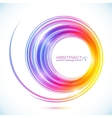 Abstract colorful circle frame vector