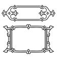 Russian style black ornamental decorative frame vector